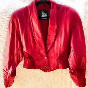 Michael Hoban North Beach Leather Jacket Suede Red
